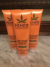3 HEMPZ~~SWEET PINEAPPLE & HONEY MELON~~SMOOTHING CREAMY HERBAL BODY WASH 8.5 OZ
