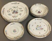 International Tableworks HEARTLAND Stoneware 16 Pc Set 4 Dinner Plates Bowls Etc