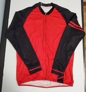 Aero Tech Long Sleeve Bike Jersey Classic Thermal Red 2XL Fleece Made in USA