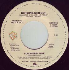 GORDON LIGHTFOOT Blackberry Wine ((**NEW UN-PLAYED 45 DJ**)) from 1982