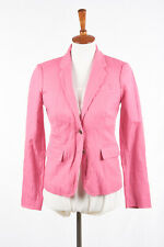 J CREW Womens Schoolboy Blazer Sz 0 #37851 in Bright Pink Summer Blend