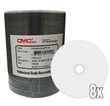 100 CMC Pro Taiyo Yuden DVD-R Value White Inkjet Hub Printable TYG02