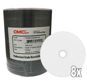 CMC Pro Taiyo Yuden DVD-R Value White Inkjet Hub Printable TYG02 100 Pcs