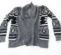Jack BB Dakota Open Front Sweater Cardigan Southwestern Style XS