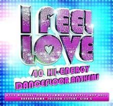 I FEEL LOVE ~ NEW 2CD 40 DISCO POP Hi-NRG DANCE HITS,80's 90's,00's Party Etc