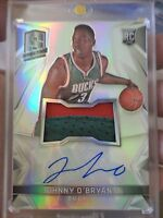 2014 - 15 PANINI SPECTRA JOHNNY O'BRYANT # 118 RPA ROOKIE PATCH AUTO RC