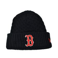 505b651404b MLB Era Cuffed Cutie Boston Red Sox Crochet Womens Knit Beanie Hat Blue