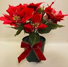 """VINTAGE 13"""" FIBER OPTIC CHRISTMAS POINSETTIA - CHANGING COLORS - WORKS GREAT!"""
