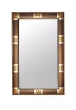 Mirror, Decorative, Metal Trim