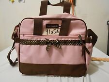"Insulated! Baby Essentials Travel Cooler Bag Pink brown Bow 12"" x 10"" x 6"" 41056"