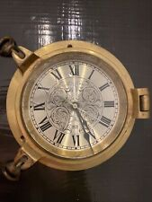 Smiths Astral Brass Ship Clock working perfectly.