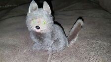 "VTG Plush Cat Figurine Toy w/ Real Rabbit Fur Sitting 4"" BEAUTIFUL & REALISTIC"