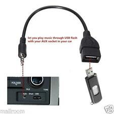 0.2m 3.5mm Audio AUX Kable Jack to USB 2.0 Type A Female OTG Converter Adapter