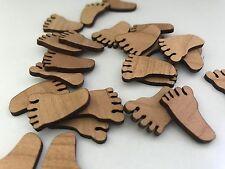 25 / 50 Streudeko Holz Teile Tischdeko Baby Füßchen Schritt  Geburt Taufe Deko