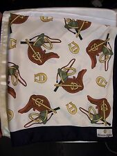 "Italian Silk 30"" Square Etienne Aigner Equestrian Print Scarf-Vintage 1986"