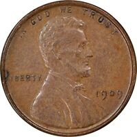 1909 VDB, 1c, Lincoln Wheat Cent, Collectors Coin B