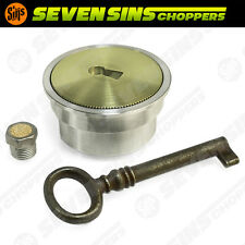 BRASS FLUSHMOUNT GAS TANK CAP OR OIL CAP CHOPPER HOTROD HARLEY TRIUMPH XS650 BSA
