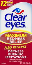 Clear Eyes Maximum Redness Relief Eye Drops 1.0 Fl. Oz