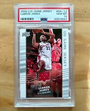 2008-09 Upper Deck UD Game Jersey #GA-LJ LeBron James PSA 10 - Low Pop