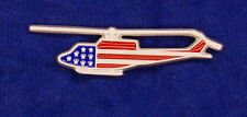 Empire Pewter Huey Helicopter Stars & Stripes Flag Pin