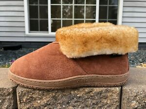 Men's Old Friend Bootie Shearling Lined Slippers Excellent! Worn Once Size 9 5E