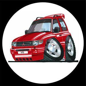 Koolart 4x4 4 x 4 Spare Wheel Graphic Mitsubishi Shogun Sticker 114 Red