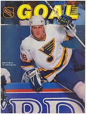 NHL Goal Magazine/Program 1989-90 Boston Bruins, Neely, Bourque, Hull Cover