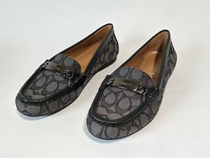 Coach  Womens Shoes Olive Outline Sig C Jacord Size 8.5M - BLACK SMOKE