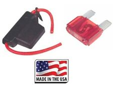 10 GAUGE INLINE MAXI FUSE HOLDER WITH WATERPROOF COVER INCLUDES 50 AMP FUSE  USA
