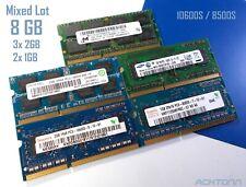 8GB RAM Lot Samsung Hynix Micron Ramaxel 5x SODIM Laptop DDR3 PC3-106000S/ 8500S