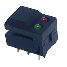 107-SP86-A2-5-13-EV  Mountain Switch Illuminated Pushbutton Switches BLACK CAP R