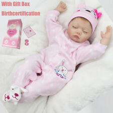 """22"""" Reborn baby Silicone Doll+Clothes Lifelike Preemie Toddler Xmas Gifts Toys"""