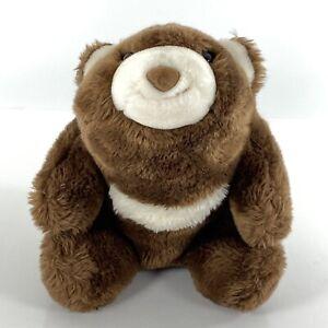 "Gund Snuffles Bear Dark Chocolate Brown White 9"" Soft Plush Stuffed Animal Soft"