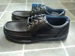 U. S Brass Black Micro_Fresh Lace Up Shoes Brand New Size 11