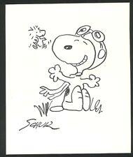 Original vintage rare felt pens on paper !hand signed CHARLES SCHULZ! SNOOPY!