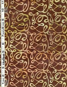 Quiltessential Coffee High Quality Batik Fabric by Anthology Fabrics bty