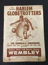 More details for harlem globetrotters v the honolulu surfriders programme-wembley 1955 - pepsi ad