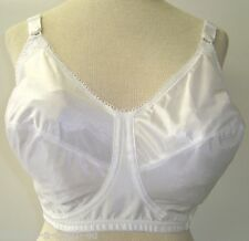 Just My Size 38DD White Laced Full Coverage Wire Free Bra Style 1974