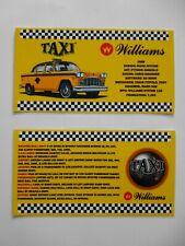 * * 'TAXI' Williams 1988 Custom Instruction/Apron Cards (New) * *