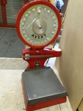 Industrial vintage avery scales floor standing  -  Red 65lb