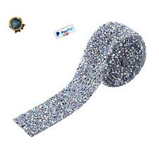 Silver Crystal Rhinestone Ribbon Sparkling Mesh Wrap Roll Bling Arts Crafts 1
