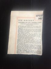 L2-6 Ephemera 1948 Ice Hockey Match Report Streatham 6 Nottingham Panthers 5