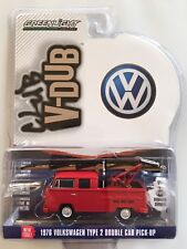 2017 GreenLight FIRE ENGINE 1976 VOLKSWAGEN TYPE 2 T2 DOUBLE CAB KOMBI PICKUP