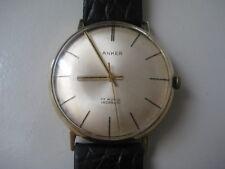 (230) Hochwertige 585 Gold Anker 17 Rubis Incabloc Herren Armbanduhr