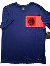 d7bbac3b0a4 Nike PSG Paris Saint Germain Soccer T-shirt Blue Red Mens Size XL 832674 410