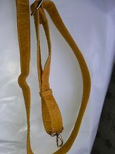 LEATHER REPLACEMENT ADJUSTABLE SHOULDER / CROSSBODYBSTRAP FOR BAGS ~ DEEP YELLOW
