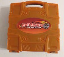 BEYBLADE METAL FURY ~ BEYLOCKER CARRYING/STORAGE CASE ~ Orange & BROWN ~ RETIRED