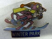 PINK PANTHER WINTER PARK PIN UNITED ARTISTS 1981