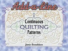 Add a Line Continuous Quilting Patterns by Janie Donaldson