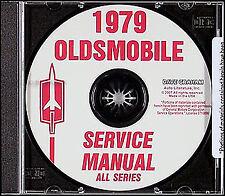 1979 Oldsmobile CD Shop Manual 88 98 Toronado Supreme Cutlass Starfire Omega